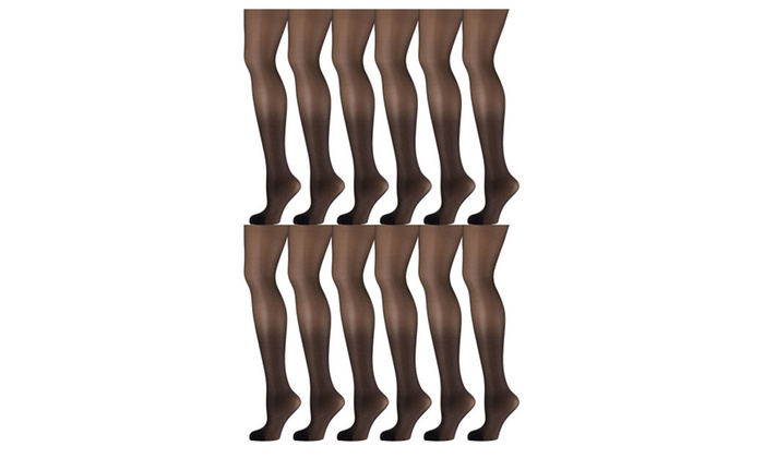 d5896d539d4c6 12 Pack of Mod & Tone Sheer Support Control Top 30D Womens Pantyhose ...