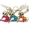 Jeweled Rhinestone Gold-Plated Key Ring, Keychain, Bag Charm - Kitten