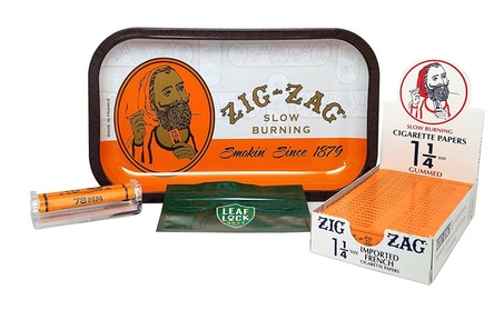 Bundle - 4 Items - Zig Zag Tray, Zig Zag Orange 1 1/4 Rolling Papers a7aeaef8-c8ea-4d6c-a5f7-2c2c417639cb