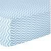 Trend Lab Blue Chevron Flannel Fitted Crib Sheet