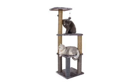 ABC Pet 3008501 3 Story Cat Lookout - Gray 0e8a947b-3de5-4cf0-9bcd-2f351ad15254