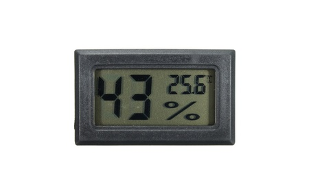 Digital Cigar Thermometer Humidity Monitor Meter for Humidor - Black photo