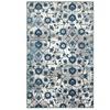 Adana Light Beige/S.Blue Floral Motif Indoor Area Rug