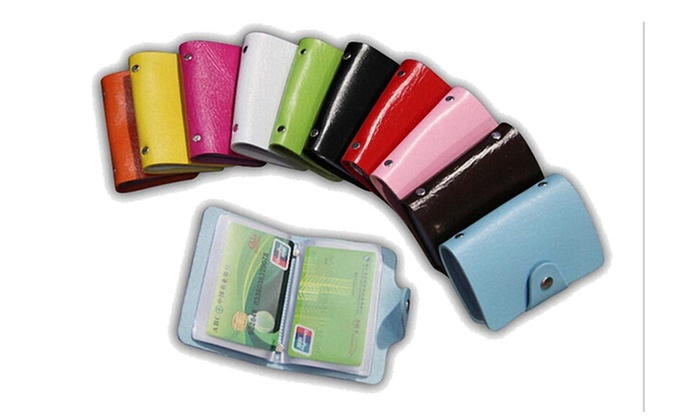 Colourful Cute Credit Card Organizer Wallet