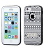 Insten Verge Tribal Binary Silicone Case W Stand For Iphone 5c White