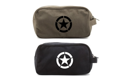 World War 2 Military Jeep Star Canvas Travel Toiletry Bag