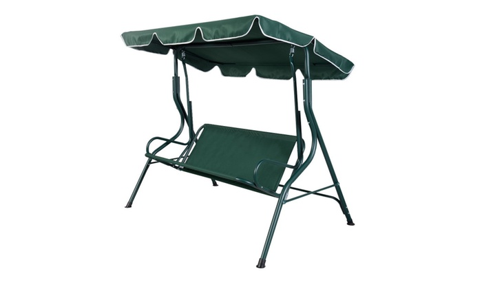 ... Costway Outdoor Patio Swing Canopy 3 Person Awning Furniture Green