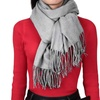 Unisex Scarf, Solid Color Accent, Soft Winter Scarves, Acrylic Wrap, Shawl