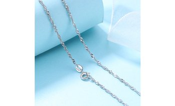 Italian Sterling Silver Singapore Chain