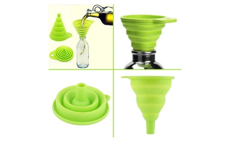 Mini Silicone Gel Foldable Collapsable Funnel Kitchen Tools 194086e1-b154-4756-ab84-208dc252c0ab