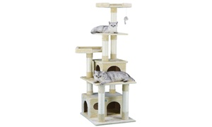 "GoPetClub 67"" Cat Tree Furniture Condo House"