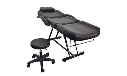 """73"""" Adjustable Tattoo Chair with Stool, Massage Table Bed for Facial SPA Salon"""