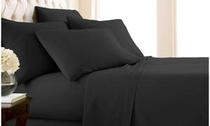 Double-Brushed 100GSM Microfiber Sheet Set (4-, 6-, or 7-Piece)