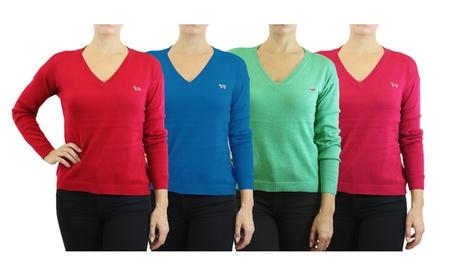 Women's Long Sleeve V-Neck Sweater Cardigan 536b9519-d7e7-4e79-bc1c-d0f86700eb68
