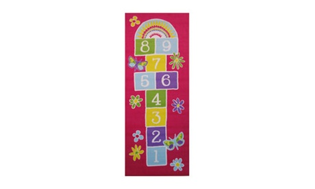 "Fun Rugs Home Decor Garden Hopscotch -30"" X 78"" Mats a67361f3-9dbc-44c9-a829-fa8c69739c94"