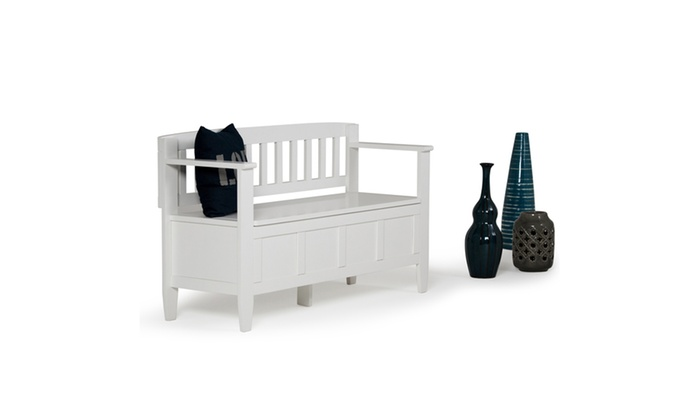 Brooklyn 48 X 17 X 28 Inch Entryway Bench In White Groupon
