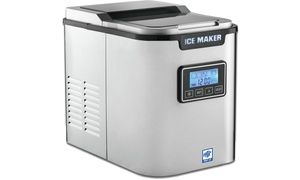 MRP US Portable Ice  Ice Machine w/ 3 Cube Size (Silver & White)