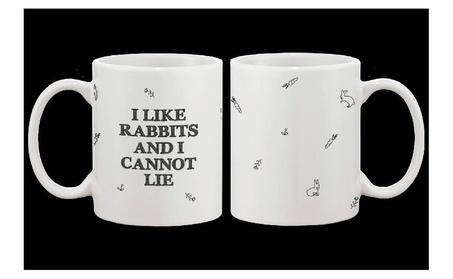 Cute Bunny Ceramic Coffee Mug I Like Rabbits And I Cannot Lie 8ceb8edf-dc21-44cb-b674-3342d45063dc
