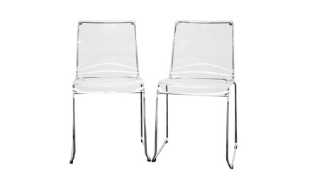 Lino Transparent Acrylic Accent Chair Dining Chair (Set of 2)