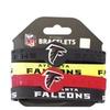 Sports Team Logo Set of 4 NFL Silicone Rubber Wrist Band Bracelet