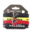 NFL Sports Team Logo Silicone Rubber Wrist Band Bracelet Set of 4