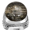 Orchid Jewelry Sterling Silver 14-1/3 Carat Scapolite Gemstone Ring