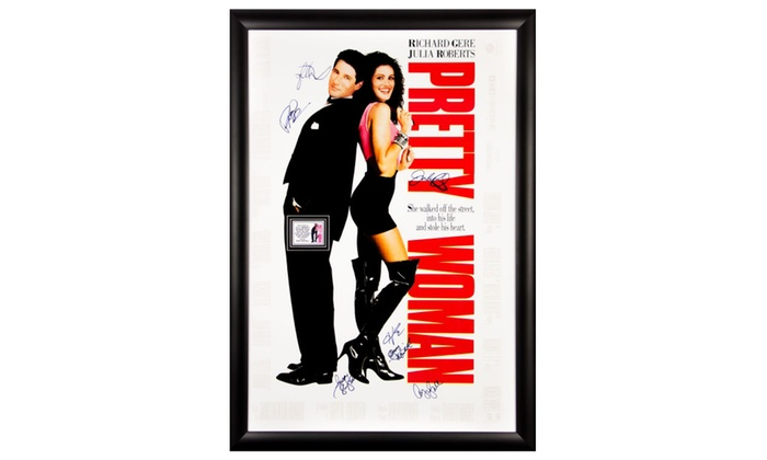 Pretty Woman - Cast Signed 27x40 Movie Poster in Framed Case   Groupon