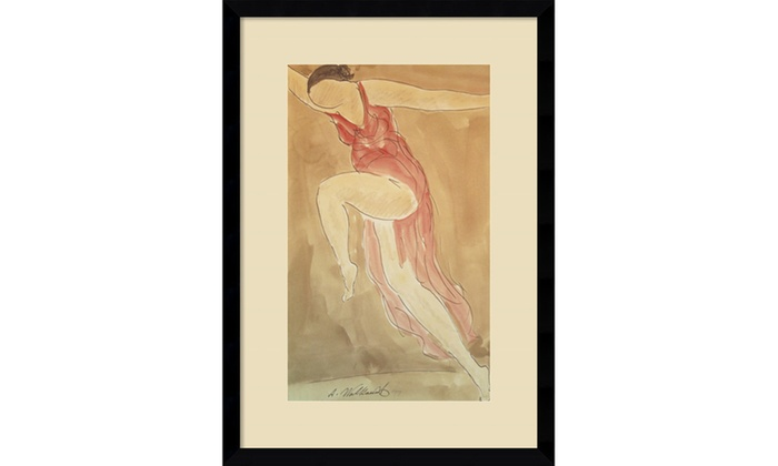 Abraham Walkowitz Woman In Red Dancing Framed Art Print