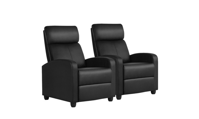 Single Recliner Chair PU Leather Sofa Club Chair Home Theater Seating