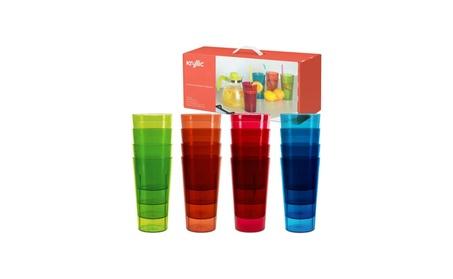 Plastic Tumblers Drinkware Glasses Cups Acrylic Tumbler Set of 16 2aff2d44-de34-4458-a6a5-4e560b492046