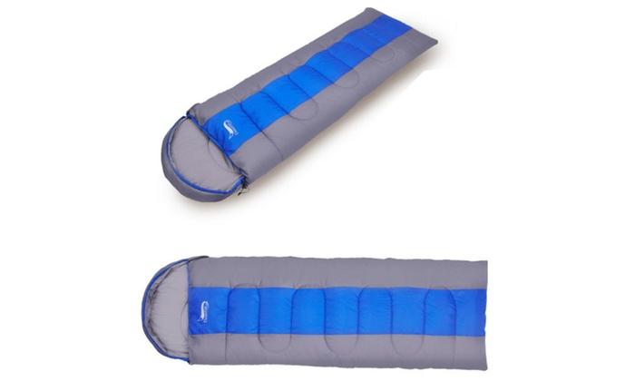 3-Season Camping Attachable Envelope Sleeping Bag
