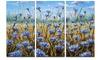 Blue Flowers in Meadow Painting - Floral Painting Metal Wall Art