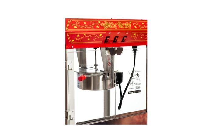 eea1b90e45 ... Big Top 8oz Classic Electric Popcorn Machine Antique Style with Cart ...