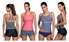 Women 2 Pcs Swimsuits Stripes Raceback Tankini Top with Bikini Bottom