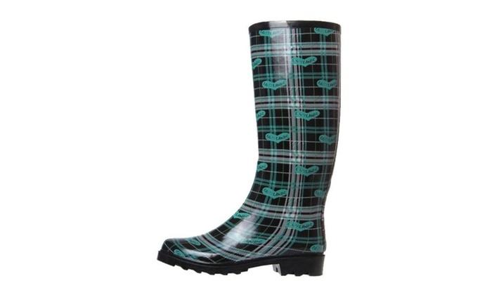 Women's Rain Boots Slip-ON Rain Boots