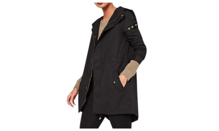 Women's Solid Hooded Long Sleeve Insulation Casual Jackets