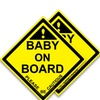 Baby On Board Magnetic Vehicle Sign (2 Pack)