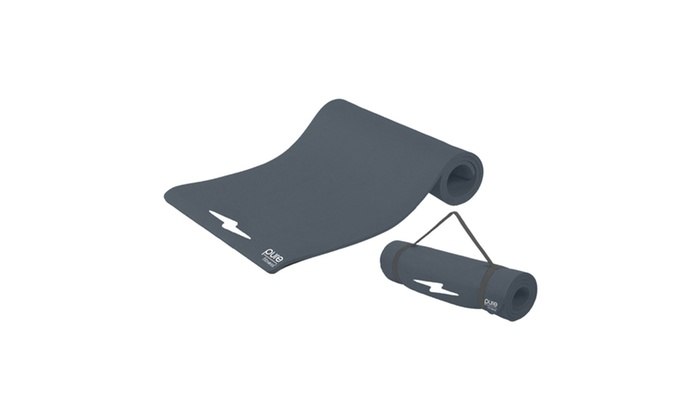 Pure Fitness Deluxe 12mm Exercise Mat - Charcoal