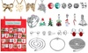 Advent Christmas Calendar Bags Hanging Decoration 24pcs Exquisite FashionJewelry