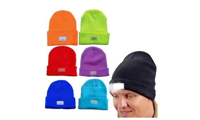 LED Ultra Bright Unisex Hands Free Lighted Beanie Cap Hat Power ... 764fc42802e2