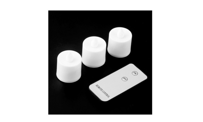3pcs Led Electronic Flameless Smokeless Candle Lights With Remote Con