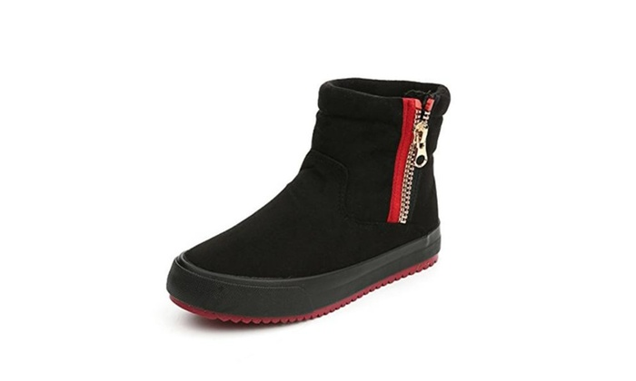 Suede Fashionable Zipper Warm Women Short Snow Boots