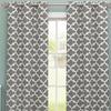 Geometric Kyra Room-Darkening Grommet Window Panel Pair