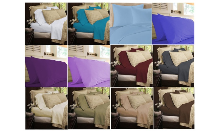 Aloe Vera Bamboo Sheet Set W Deep Pockets 4 Piece Set 1800 Series