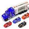 Speed Race Transport Trailer Children's Friction Toy Semi Truck  1:32