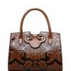 QZUnique Women's Chinese Style PU Leather Empaistic Handbag