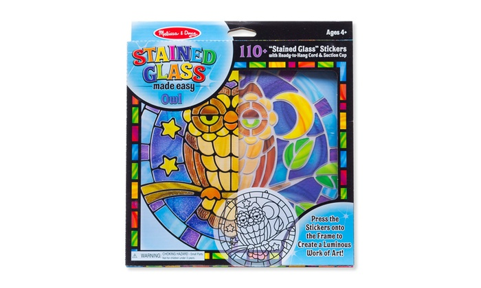 melissa doug stained glass owl 9296 - Melissa And Doug Coloring Book