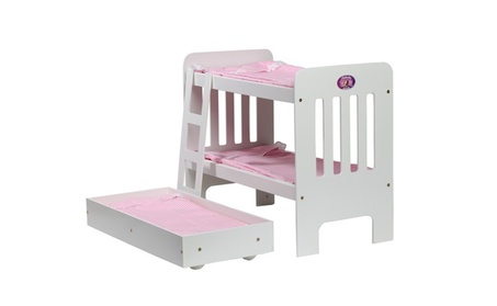 Cinderella USA Trundle Doll Bunk Beds With Ladder bee38ef4-10e2-4d7c-817d-82d1177390ac
