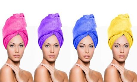 Premium Women 's Microfiber Hair Twist Towel Fast Drying Turban 4 Pack Assorted 97f4df76-3453-4716-ba5e-95e3d855607c