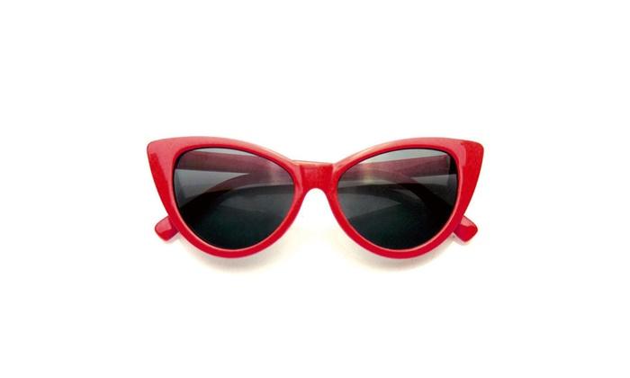 Emblem Eyewear - Fashion Hot Tip Vintage Pointed Cat Eye Sunglasses